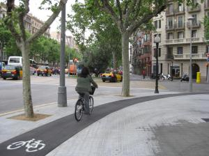 Sidewalk Bike Lane